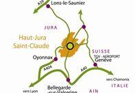 carte geographique haut jura saint claude