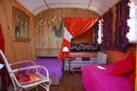 Old-fashioned caravan