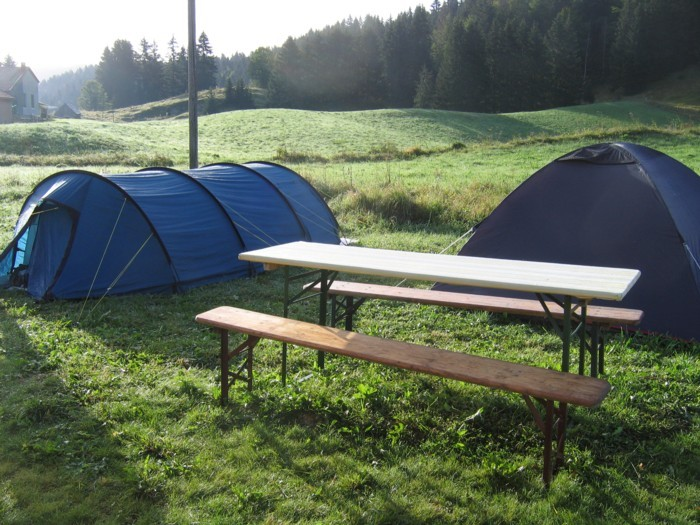 Open-countryside camping site