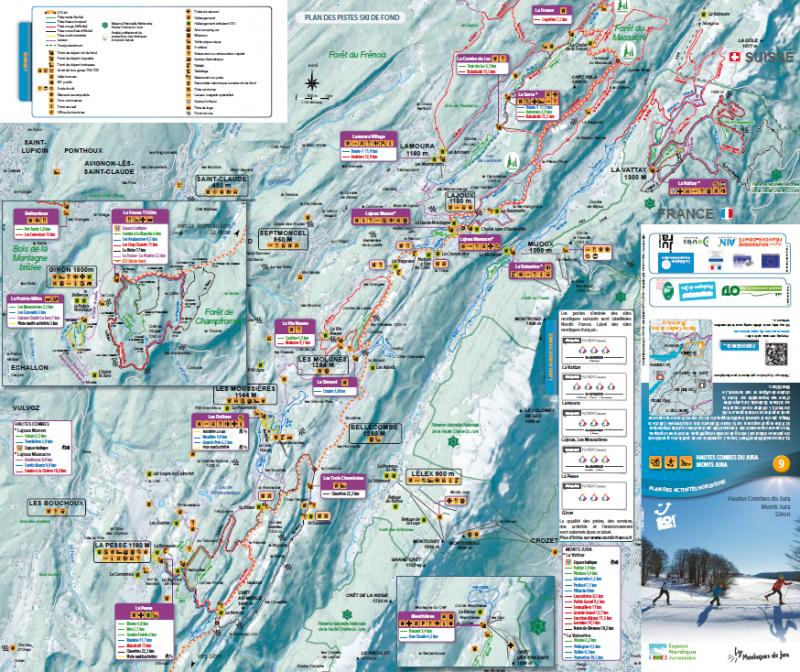 Domaine nordique et plan des pistes