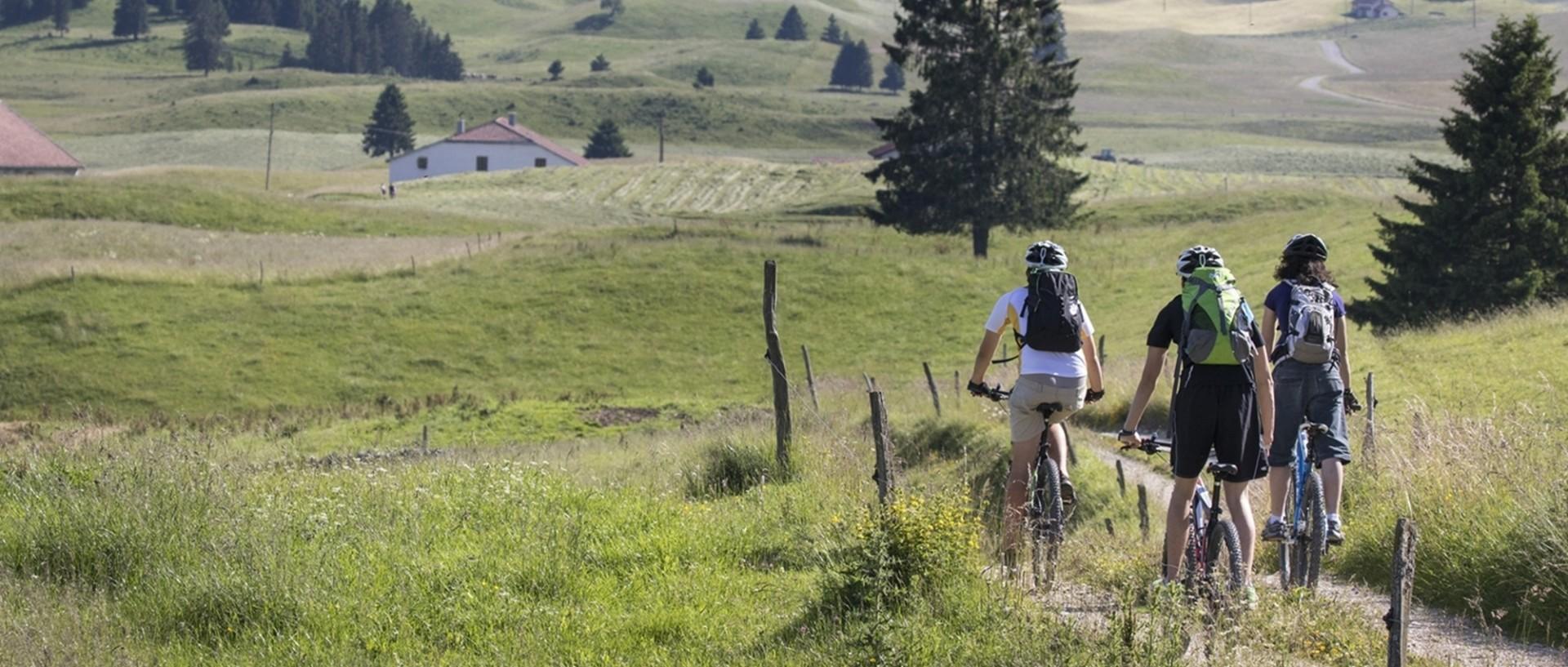 Vélos et VTT dans le Haut-Jura
